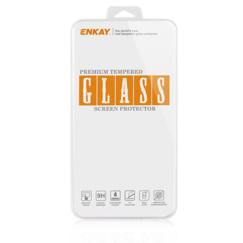 Chic ENKAY 2 in 1 Protective Back Case Tempered Glass Screen Protector for iPhone 6 / 6S with Stand 0.26mm Ultrathin 9H 2.5D Film - PINK  Mobile