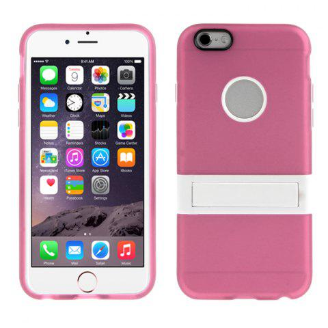 Trendy ENKAY 2 in 1 Protective Back Case Tempered Glass Screen Protector for iPhone 6 / 6S with Stand 0.26mm Ultrathin 9H 2.5D Film - PINK  Mobile