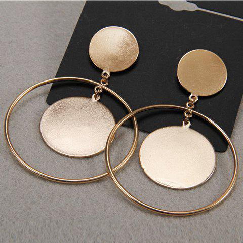 Cheap Pair of Hollow Out Round Earrings