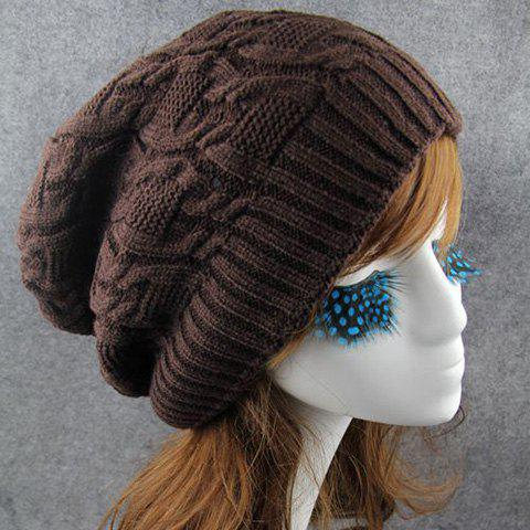 Online Chic Solid Color Winter Knitted Beanie For Women