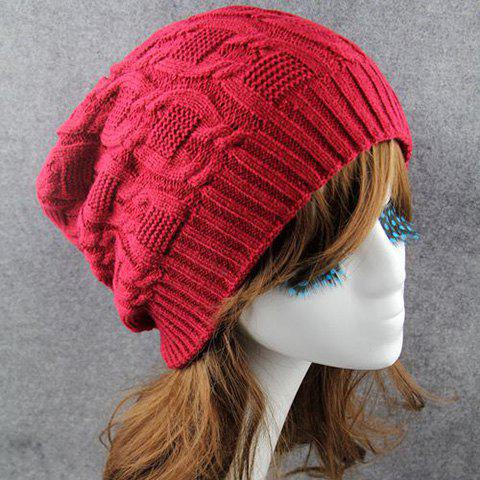 Latest Chic Solid Color Winter Knitted Beanie For Women -   Mobile