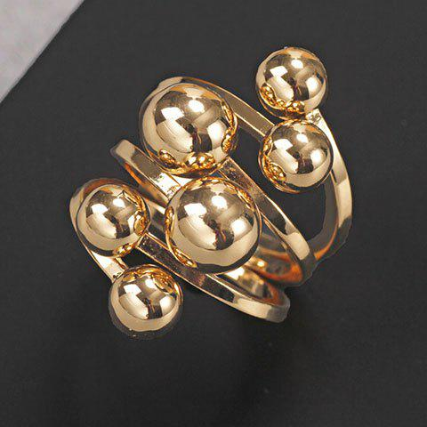 Fashion Chic Solid Color Beads Layered Ring For Women