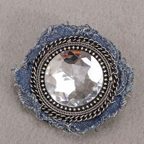 Best Characteristic Floral Shape Rhinestone Denim Brooch For Women -   Mobile