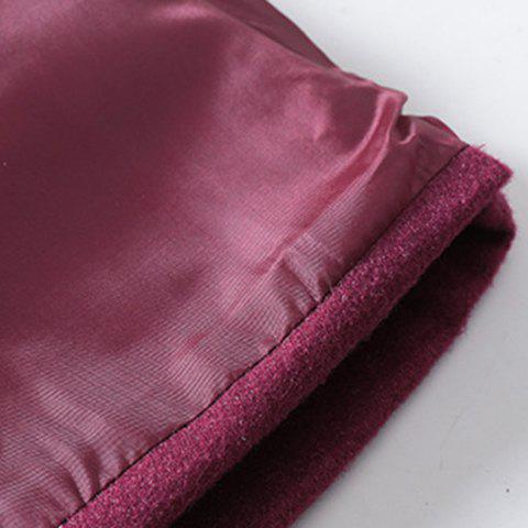 Store Sweet Zippered Candy Color Pantskirt For Women - 2XL WINE RED Mobile