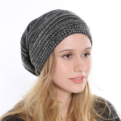 Outfits Chic Simple Mixed Color Knitted Beanie For Women