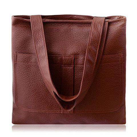 Fashion Retro Embossing and Solid Color Design Women's Shoulder Bag
