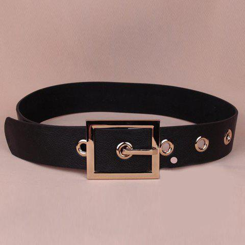 Shop Chic Rectangle Shape Pin Buckle Faux Leather Wide Belt For Women
