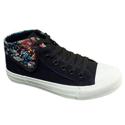 Buy Fashion Stitching Lacing Design Women's Canvas Shoes 39