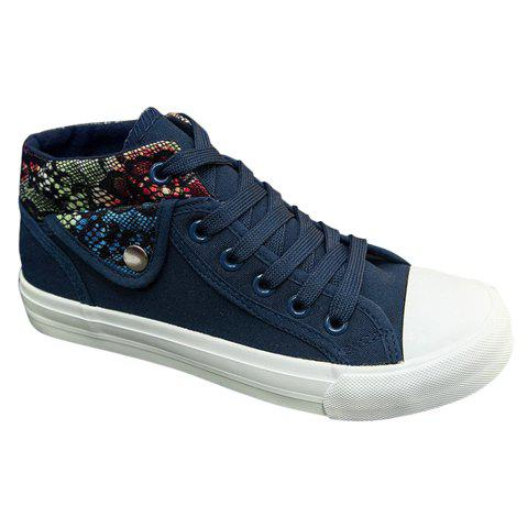 Cheap Fashion Stitching and Lacing Design Women's Canvas Shoes