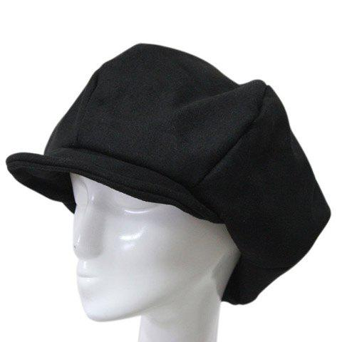 New Stylish Solid Color Winter Felt Newsboy Cap For Men -   Mobile