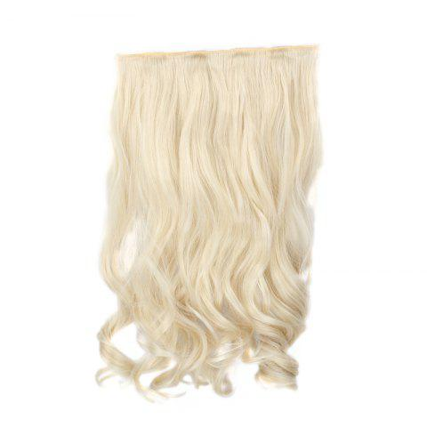 Affordable Assorted Color Long Clip-In Capless Trendy Shaggy Wavy Synthetic Hair Extension For Women - PALE BLONDE  613/60#  Mobile