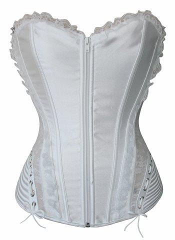 Latest Sexy Strapless Sleeveless Solid Color Laciness Slimming Women's Corset