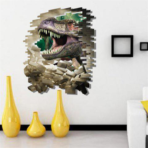 3D Dinosaur Style Removable Wall Stickers Colorful Room Window Decoration for Bedroom Store - As The Picture - Size 4