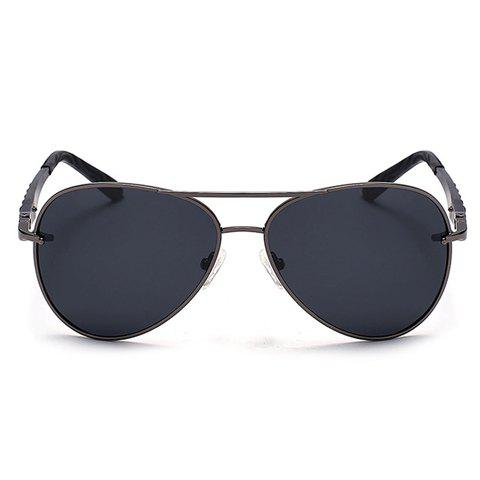 New Stylish Stripy Embellished Metal Frame Sunglasses For Men