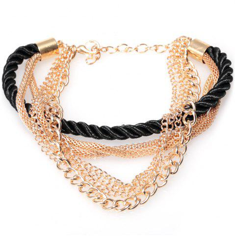 Buy Europe America Electroplate Multilayer Hand Woven Women Bracelet