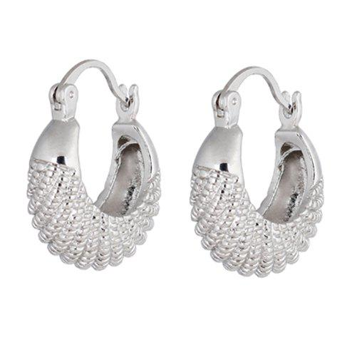 Shop Pair of Fish Shape Alloy Earrings SILVER