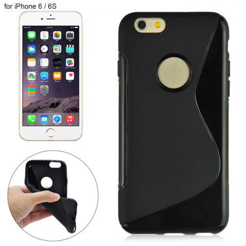Store Angibabe Phone Back Case Protector for iPhone 6 / 6S with Round Hole S Design TPU Material
