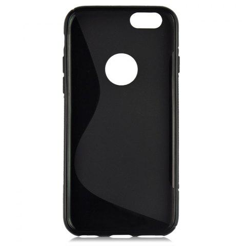 Fashion Angibabe Phone Back Case Protector for iPhone 6 / 6S with Round Hole S Design TPU Material - BLACK  Mobile