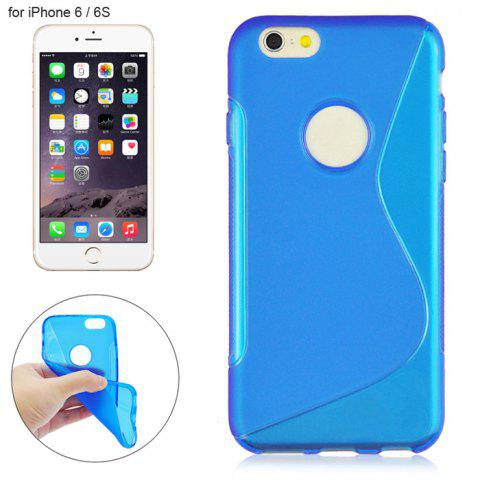 Shop Angibabe Phone Back Case Protector for iPhone 6 / 6S with Round Hole S Design TPU Material - BLUE  Mobile