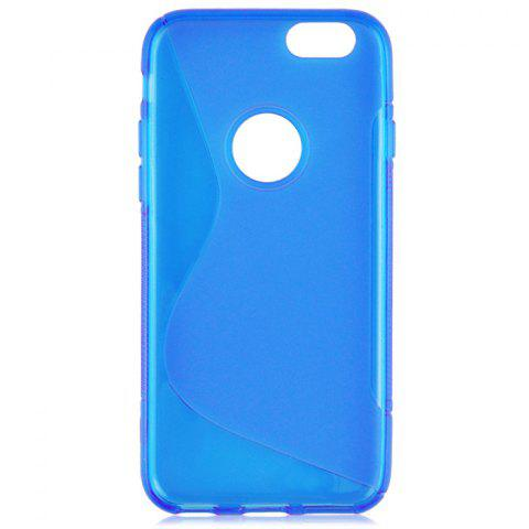 Cheap Angibabe Phone Back Case Protector for iPhone 6 / 6S with Round Hole S Design TPU Material - BLUE  Mobile