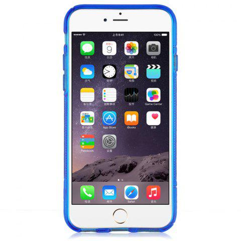 Hot Angibabe Phone Back Case Protector for iPhone 6 / 6S with Round Hole S Design TPU Material - BLUE  Mobile