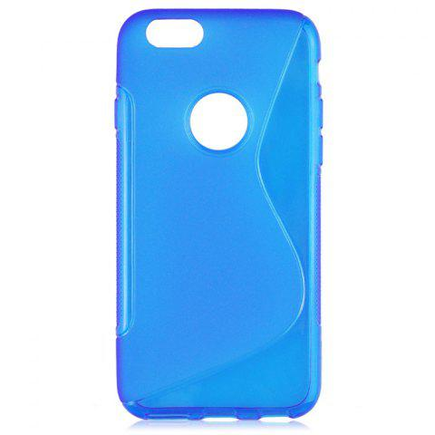 Fashion Angibabe Phone Back Case Protector for iPhone 6 / 6S with Round Hole S Design TPU Material - BLUE  Mobile