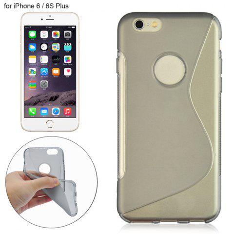 New Angibabe Phone Back Case Protector for iPhone 6 / 6S Plus with Round Hole S Design TPU Material