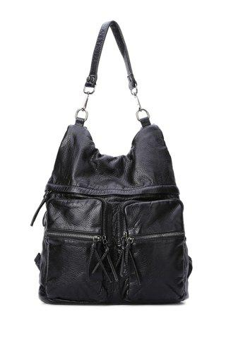 Best Casual Black and Embossing Design Women's Shoulder Bag