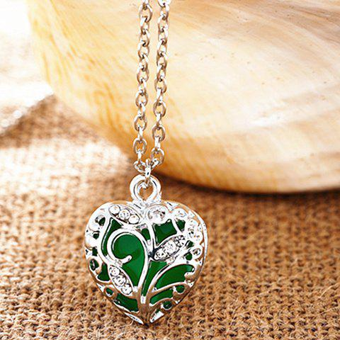 Outfit Sweet Luminous Heart Necklace For Women - RANDOM COLOR  Mobile