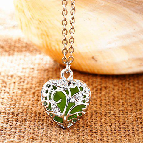 New Sweet Luminous Heart Necklace For Women - RANDOM COLOR  Mobile