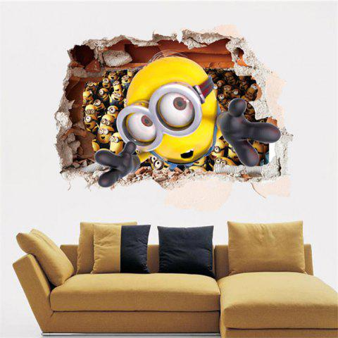 Sale 3D Bee-do Style Removable Wall Stickers Colorful Room Window Decoration for Bedroom AS THE PICTURE