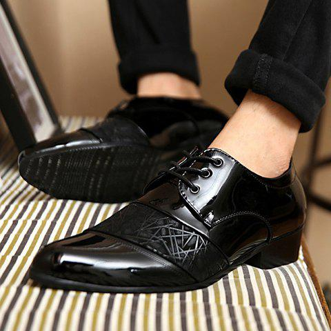 Best Stylish Geometric Pattern and Black Design Men's Formal Shoes - 40 BLACK Mobile
