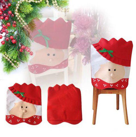 Shops Mrs Santa Claus Christams Kitchen Chair Cover for home decoration