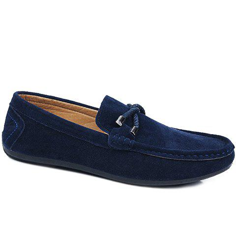Fashion Stylish Criss-Cross and Suede Design Men's Casual Shoes BLUE 42