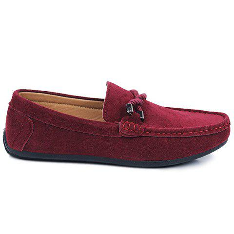 Store Stylish Criss-Cross and Suede Design Men's Casual Shoes - 44 WINE RED Mobile