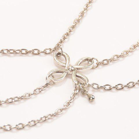 Shop Vintage Chinese Knot Layered Chain Tassel Feet Anklet - SILVER  Mobile