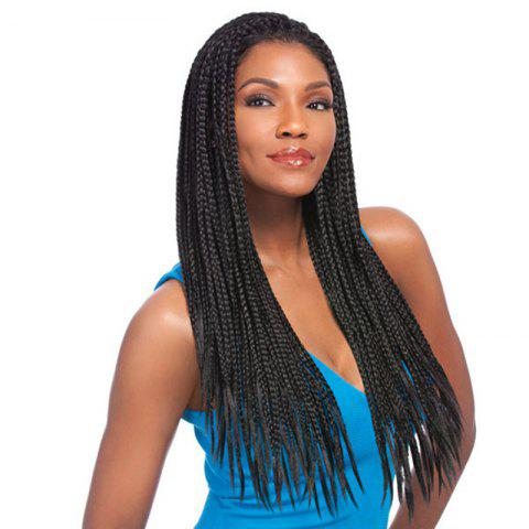 Hot Fashion Black Long Synthetic Outstanding Full Hand Tied Braided Lace Front Wig For Women