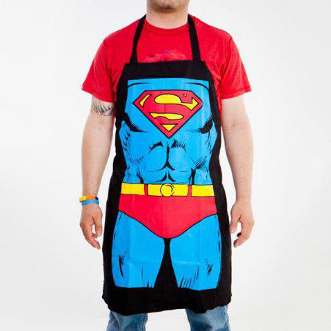 Online Cute Color Superman Pattern Apron -   Mobile