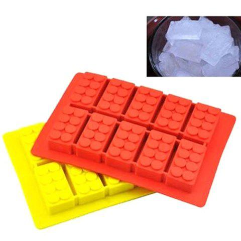Shops Cute Building Block Shape Mold Silicon Ice Cube Tray