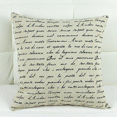 Buy Simple Square Letter Pattern Decorative Pillowcase(Without Pillow Inner)