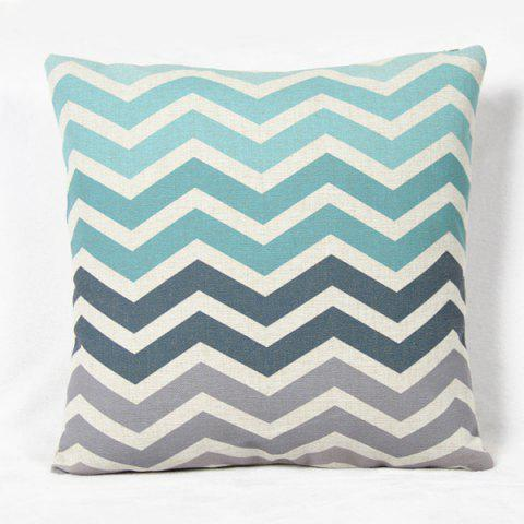 Fashion Fashion Square Stripe Pattern Decorative Pillowcase(Without Pillow Inner) - COLORMIX  Mobile