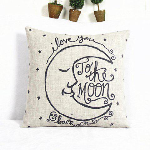 Fancy Classical Square Moon Pattern Decorative Pillowcase(Without Pillow Inner)