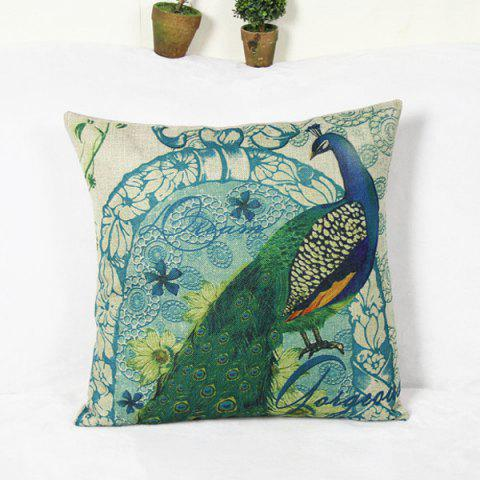 Chic Wholesale Peacock Pattern Home Hold  Decorative Pillow Case