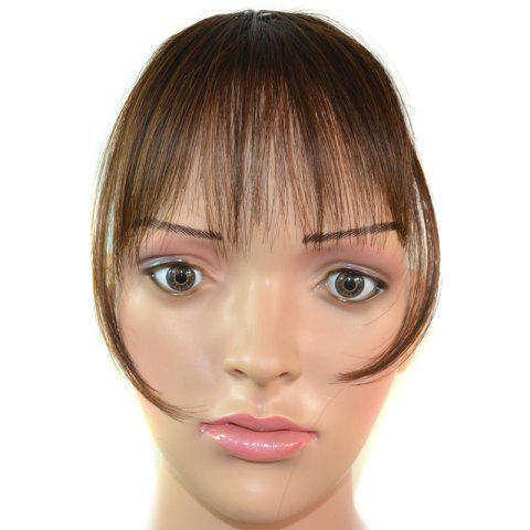 Online Trendy Ultrathin Capless Stunning Clip In Synthetic Full Bang With Sideburns For Women
