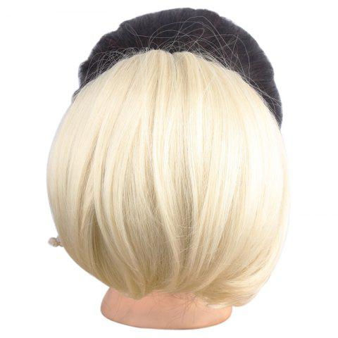 Best Charming Heat Resistant Fiber Fashion Shaggy Straight Capless Chignons For Women