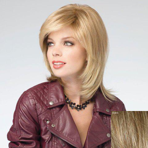 New Assorted Color Vogue Medium Capless Stunning Side Bang Natural Straight Human Hair Wig For Women