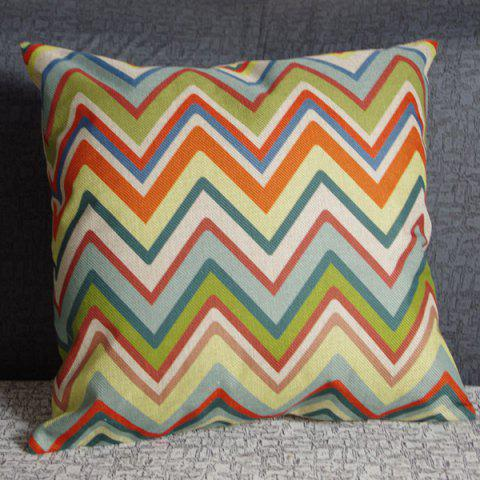 Affordable Delicate Square Wave Pattern Linen Pillowcase(Without Pillow Inner)