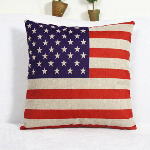Affordable Casual America Flag Pattern Decorative Pillowcase(Without Pillow Inner) BLUE AND RED