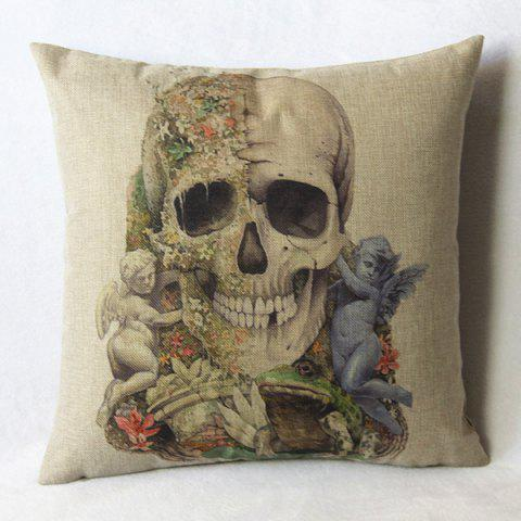 Hot Casual Skull Pattern Decorative Pillowcase(Without Pillow Inner)