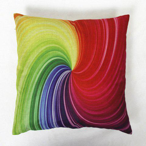 Online Colorful Square Vortex Pattern Decorative Pillowcase(Without Pillow Inner) - COLORMIX  Mobile